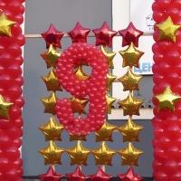 Воздушные шары и шарики на 9 мая
