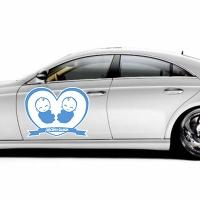 Купить декоративную наклейку на боковую сторону автомобиля «двойняшки» в интернет-магазине Спасибо-за-ребенка. Ру