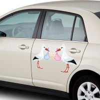 Купить виниловую наклейку на машину Аисты в интернет магазине Спасибо за ребенка.