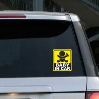 """Купить виниловую наклейку на стекло Baby in car кресло в интернет магазине  """"Спасибо за ребенка""""."""