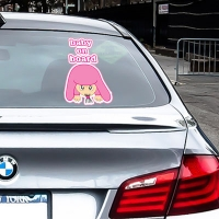 Купить виниловую наклейку на машину Baby on board попой девочка в интернет магазине Спасибо за ребенка.