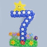 Цифра 7 из шариков