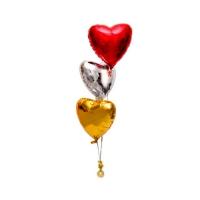 Фонтан «I love you» из фольгированных шаров