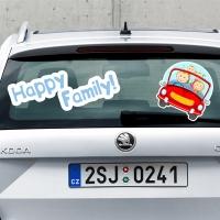 Купить виниловую наклейку на машину Happy family в интернет магазине Спасибо за ребенка.