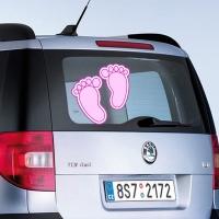 Наклейка на выписку из роддома дочки - Ножки розовые