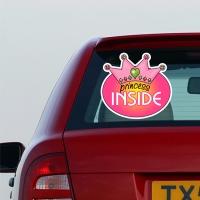 Купить декоративную наклейку на стекло Princess inside в интернет магазине Спасибо за ребенка.