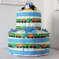 Торт из подгузников Merries в подарок мальчику