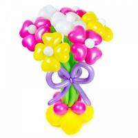 Букет цветов «Весенний» с бантом