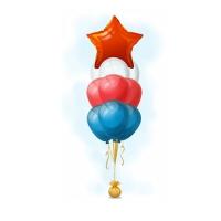 Фонтан из шариков «Победный»