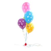 Фонтан из шаров «Разноцветный горошек»