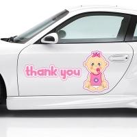 Наклейка - Thank you! girl