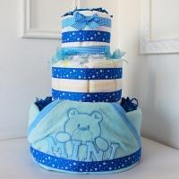 Торт из подгузников для новорожденного мальчика