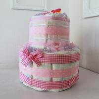 Купить подарок-торт из памперсов для новорожденной девочки