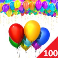 Воздушные шары с гелием 100 штук