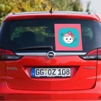 Купить декоративную наклейку на автомобиль Знак девочка в интернет магазине Спасибо за ребенка.