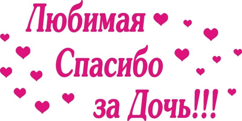 Плакат Любимая спасибо за дочь
